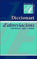DICCIONARI D'ABREVIACIONS