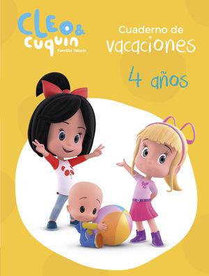 CUADERNO VACACIONES CLEO Y CUQUIN - 4 AÑOS