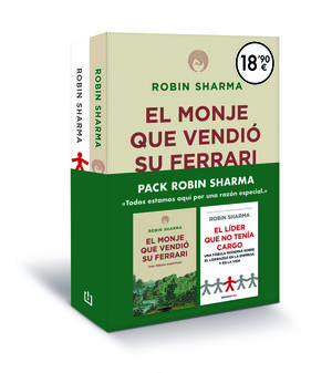 PACK ROBIN SHARMA  ( EL MONJE QUE VENDIÓ SU FERRARI + EL LÍDER QUE NO TENÍA CARGO )