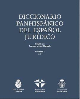 DICCIONARIO PANHISPÁNICO JURÍDICO RAE (2TOMOS)