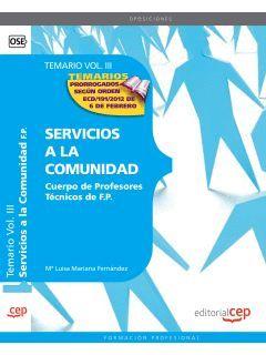 SERVICIOS A LA COMUNIDAD. TEMARIO VOL.I.