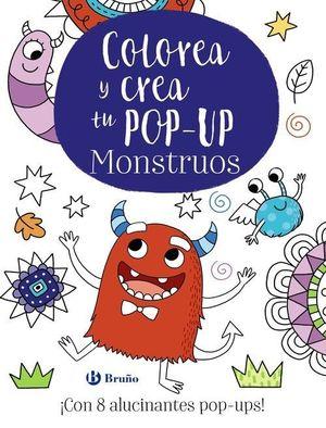 COLOREA Y CREA TU POP-UP. MONSTRUOS