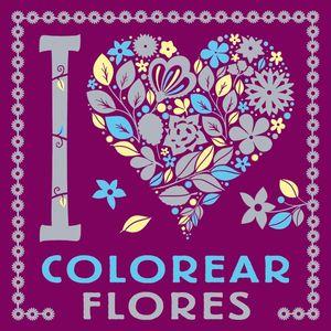 COLOREAR FLORES, I LOVE