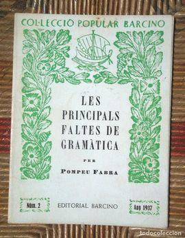PRINCIPALS FALTES DE GRAMÀTICA