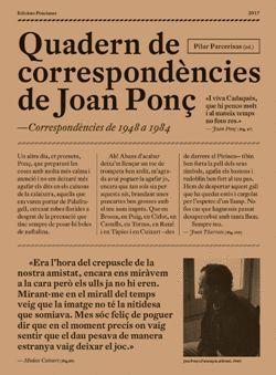 QUADERNS DE CORRESPONDÈNCIES DE JOAN PONÇ