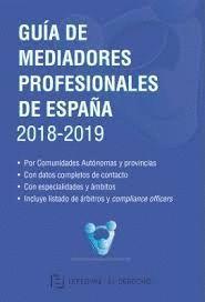 GUIA DE MEDIADORES PROFESIONALES DE ESPAÑA 2018-2019