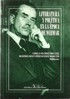 LITERATURA Y POLITICA EN LA EPOCA DE WEIMAR