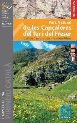 CAPÇALERES DEL TER I DEL FRESER, PARC NATURAL - CARPETA AMB 2 MAPES