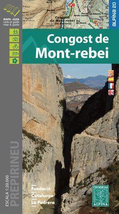 CONGOST DE MONT-REBEI, MAPA I GUIA EXCURSIONISTA