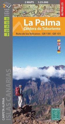 PALMA, LA - CALDERA DE TABURIENTE, 2 MAPAS Y GUIA EXCURSIONISTA