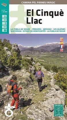 CINQUÈ LLAC, EL - CAMINA PEL PIRINEU MÀGIC - MAPA I GUIA EXCURSIONISTA