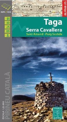 TAGA - SERRA CAVALLERA, MAPA I GUIA EXCURSIONISTA