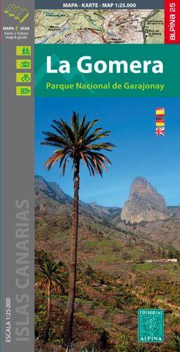 LA GOMERA - PARQUE NACIONAL DE GARAJONAY, MAPA Y GUIA EXCURSIONISTA
