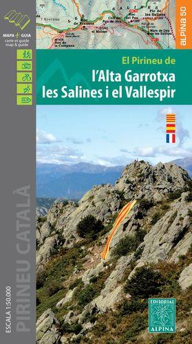ALTA GARROTXA, L' - LES SALINES - EL VALLESPIR, EL PIRINEU DE - MAPA I GUIA EXCURSIONISTA