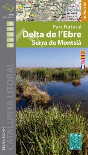 DELTA DE L'EBRE - SERRA DEL MONTSIÀ (ESCALA 1:50.000)
