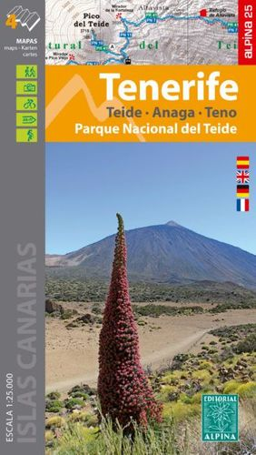 TENERIFE 1:25.000 [4 MAPES] TEIDE - ANAGA - TEGO