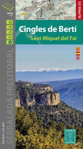 CINGLES DE BERTÍ - SANT MIQUEL DEL FAI (1:25,000)