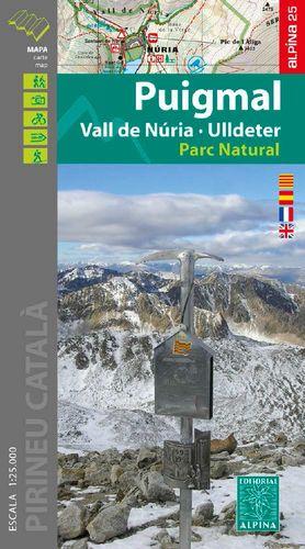 PUIGMAL -  VALL DE NÚRIA - ULLDETER (ESCALA 1:25.000)
