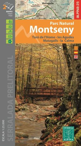 MONTSENY - PARC NATURAL, MAPES I GUIA EXCURSIONISTA