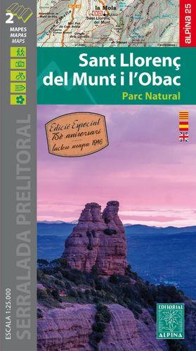 SANT LLORENÇ DEL MUNT I L'OBAC (MAPA 1:25.000 + MAPA DEL 1946)