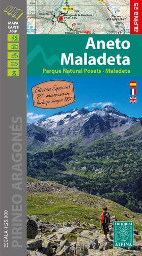 ANETO - MALADETA, MAPA I GUIA EXCURSIONISTA (EDICIÓ ESPECIAL 75 ANIVERSARI)