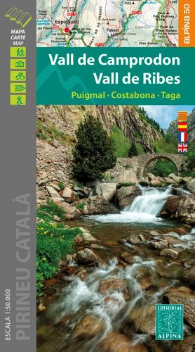 VALL DE CAMPRODON - VALL DE RIBES, MAPA I GUIA EXCURSIONISTA