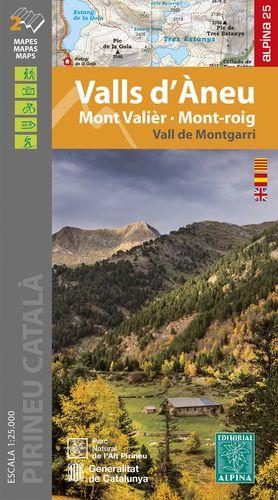 VALLS D'ÀNEU, MONT VALIÈR, MONT-ROIG, VALL DE MONTGARRI, MAPES I GUIA EXCURSIONISTA