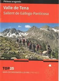VALLE DE TENA - SALLENT DE GÁLLEGO-PANTICOSA. MAPA TOP 25