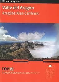 VALLE DEL ARAGÓN. ARAGÜES-AISA-CANFRANC. MAPA TOP 25