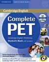 COMPLETE PET STUDENT 'S BOOKS WITH ANSWERS + CDROM