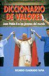 DICCIONARIO DE VALORES
