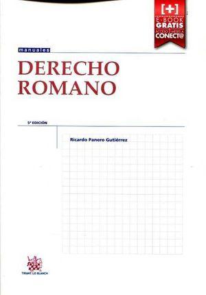 DERECHO ROMANO (5º EDICION 2015 )