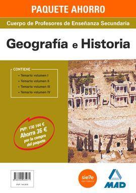 PAQUETE AHORRO GEOGRAFIA E HISTORIA CUERPO DE PROFESORES DE ENSEÑANZA SECUNDARIA