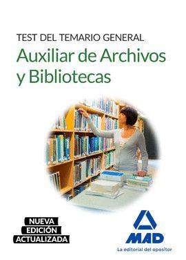 AUXILIAR ARCHIVO Y BIBLIOTECA  TEST GENERAL