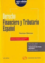 DERECHO FINANCIERO Y TRIBUTARIO ESPAÑOL. NORMAS BÁSICAS (27 EDICION 2015)