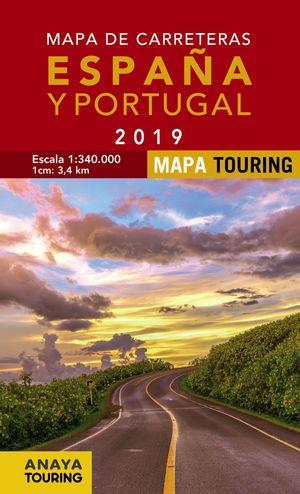 ESPAÑA Y PORTUGAL 2019, MAPA TOURING DE CARRETERAS DE