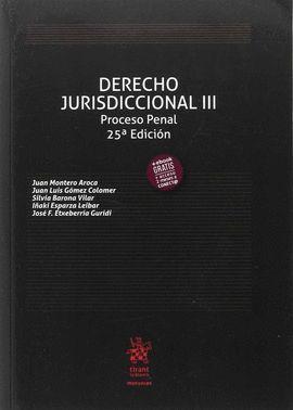 DERECHO JURISDICCIONAL III. PROCESO PENAL (25ª EDICIÓN 2017)