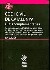 CODI CIVIL DE CATALUNYA I LLEIS COMPLEMENTÀRIES