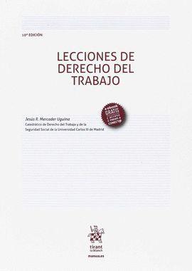 LECCIONES DE DERECHO DEL TRABAJO (10ª ED. 2017)