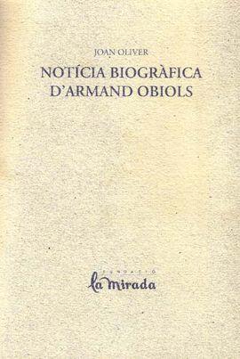 NOTICIA BIOGRÀFICA D'ARMAND OBIOLS