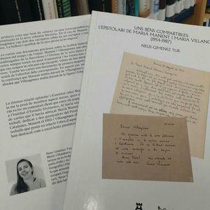 BÉNS COMPARTIBLES, UNS: L'EPISTOLARI DE MARIÀ MANENT I MARIÀ VILLANGÓMEZ (1954-1987)