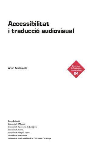 ACCESSIBILITAT I TRADUCCIÓ AUDIOVISUAL