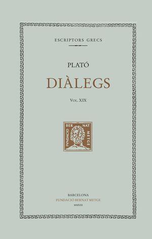 DIÀLEGS. VOL. XIX (DOBLE TEXT/RÚSTICA) - LES LLEIS (LLIBRES I-III)