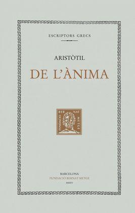 DE L'ÀNIMA (DOBLE TEXT/RÚSTICA)