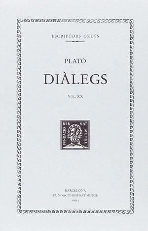 DIÀLEGS VOL.XX (DOBLE TEXT/RÚSTICA) - LES LLEIS (LLIBRES IV-VI)