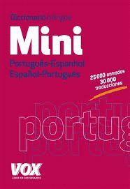 DICCIONARIO MINI PORTUGUÉS - ESPANHOL / ESPAÑOL - PORTUGUÉS