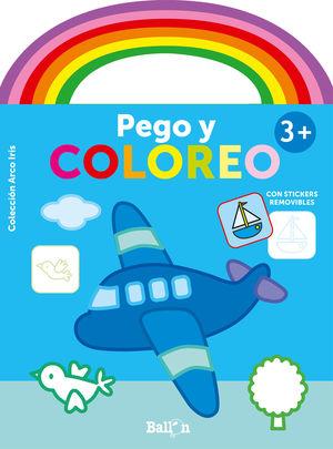 ARCO IRIS - PEGO Y COLOREO +3 AVIÓN