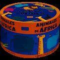 ANIMALES DE AFRICA  ( CAJA REDONDA )