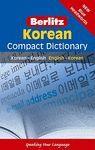 BERLITZ KOREAN COMPACT DICTIONARY. KOREAN-ENGLISH-KOREAN