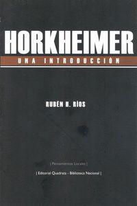 HORKHEIMER. UNA INTRODUCCIÓN